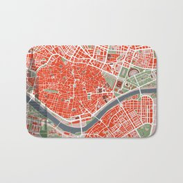 Seville city map classic Bath Mat