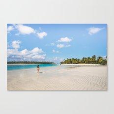 Enjoying the Cook Islands Canvas Print