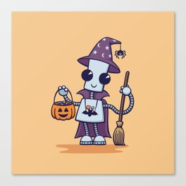Ned's Halloween Witch Canvas Print