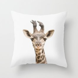 Baby Giraffe Throw Pillow