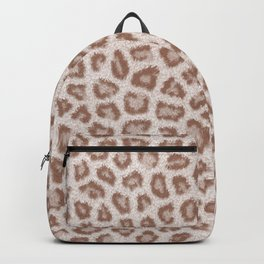 Abstract hipster brown white cheetah animal print Backpack