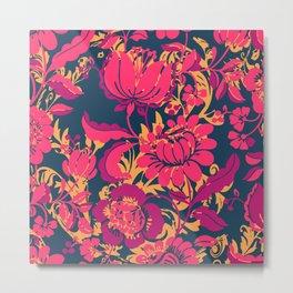 Boho Style No2, Floral pattern Metal Print