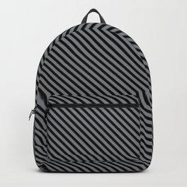 Sharkskin and Black Stripe Backpack