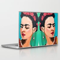 frida Laptop & iPad Skins featuring Frida by Jaleesa McLean