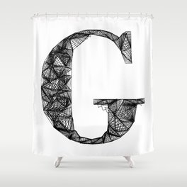 ''City Collection'' - Minimal Letter G Print Shower Curtain
