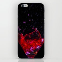 Coctail red splash iPhone Skin