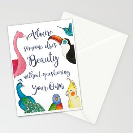 Admire Someone's Else's Beauty Without Questioning Your Own Stationery Cards