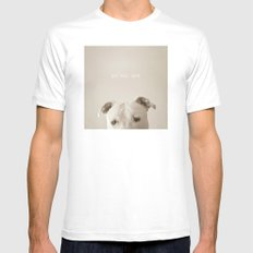 Pit bull love  White MEDIUM Mens Fitted Tee