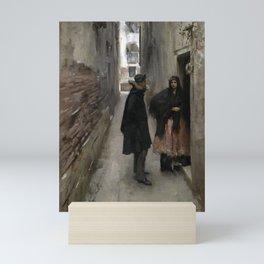 A Street in Venice by John Singer Sargent - Vintage Fine Art Oil Painting Mini Art Print