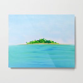 Peace and Quiet Island Metal Print