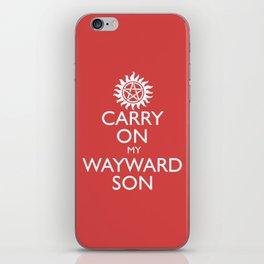 SUPERNATURAL CARRY ON MY WAYWARD SON iPhone Skin