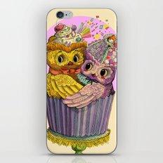 Happy Birthday Cupcake Owls Suprise iPhone & iPod Skin