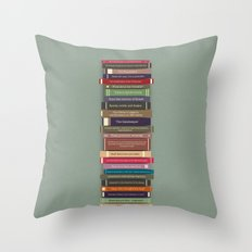 Ghostbusters stacked books Throw Pillow