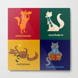 Hogwarts Cat Houses Metal Print