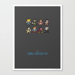 Mega Final Fantasy VII Canvas Print