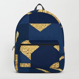 Abstract Geometric Glitter Shapes Backpack