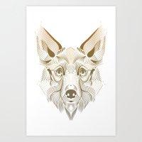 coyote Art Prints featuring Coyote by Kirsten Allen