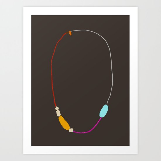 Neon Necklace Art Print