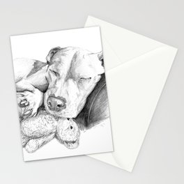 Let Sleeping Dogs Lie :: Grayscale Stationery Cards