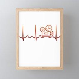 Filmmaking Heartbeat Framed Mini Art Print