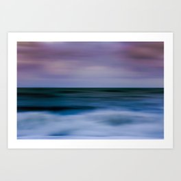 Pink Sky Blue Sea Art Print