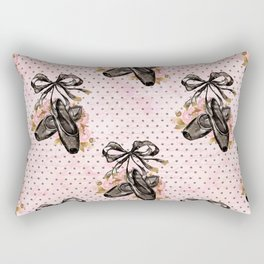 Black ballet shoes Rectangular Pillow