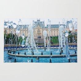 blue palace fountain Rug