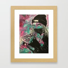 Cheesy Framed Art Print