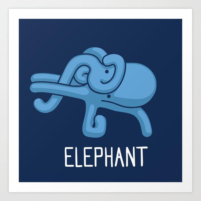 An Elephant (That is Definitely not an Octopus) Art Print