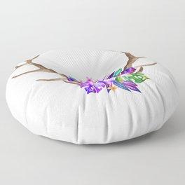 Floral Horn Floor Pillow