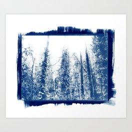 Portland Trees with Rough Edges Art Print