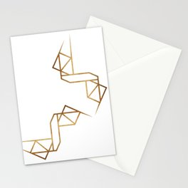 industrial golden glitters Stationery Cards