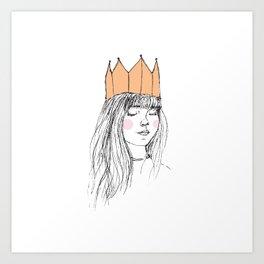 ROSY-CHEEKED PRINCESS Art Print