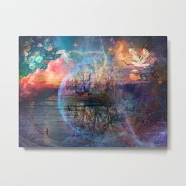 Finding peace not looking for happiness Metal Print