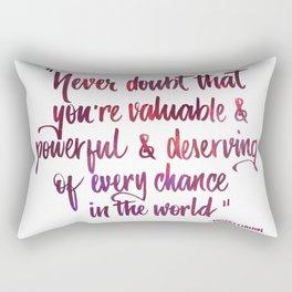 Never doubt pink Rectangular Pillow