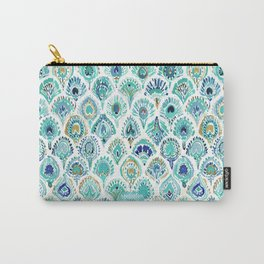 PEACOCK MERMAID Nautical Scales and Feathers Carry-All Pouch
