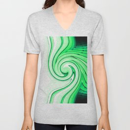 iDeal - Mirrored Illusions - Green Unisex V-Neck