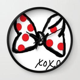 Minnie Red Polka Dot Bow Wall Clock