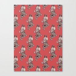 Fu The Rabbit Skellie Canvas Print