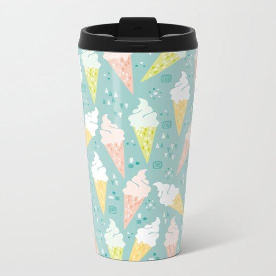 Ice Cream Cones Metal Travel Mug