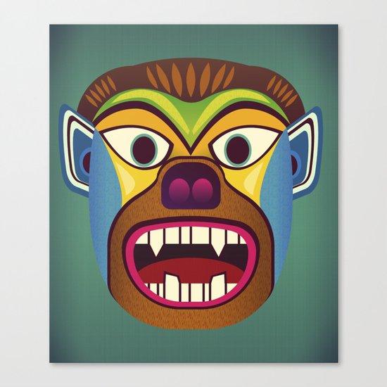 Gorilla ethnic mask Canvas Print