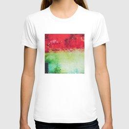 Modern Texture Red Abstract T-shirt