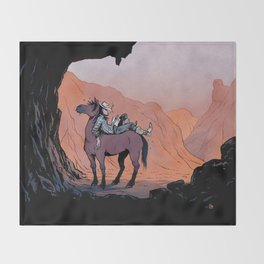 Reading Cowboy Throw Blanket