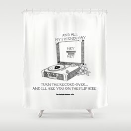 Turn the record over... The Gaslight Anthem Shower Curtain