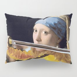 "Vermeer's ""Girl with a Pearl Earring"" & Kill Bill Pillow Sham"