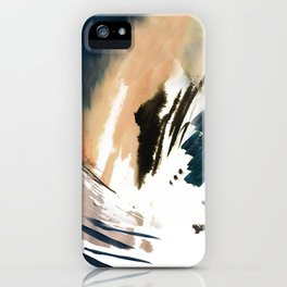 Twilight Wandering - a watercolor and ink abstract  iPhone Case