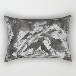 Black Ink on White Background Rectangular Pillow