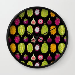 strange fruits Wall Clock