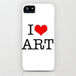 I Love Art iPhone Case