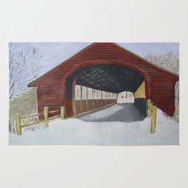 Covered bridge Rug